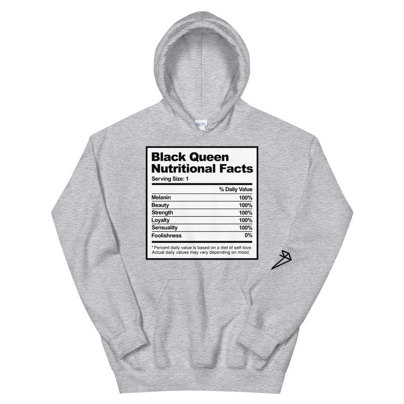 Black Queen Nutrition Facts Hoodie