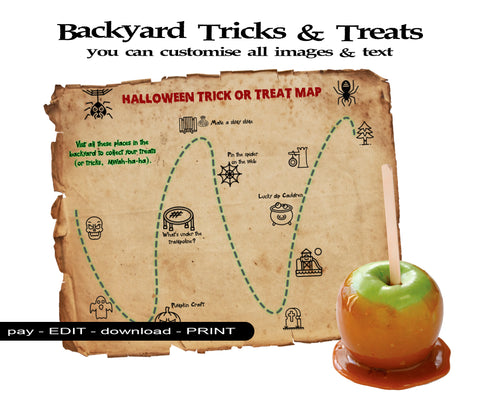 Halloween trick or treat alternative at home map