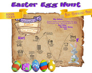 Easter Egg Hunt Map Printable | Indoor Treasure Hunt for Children - Open Chests