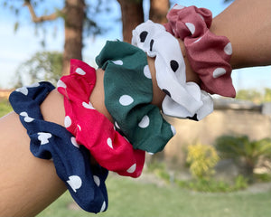 Crazy For Polka Dots Scrunchie