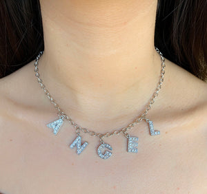 """Angel"" Rhinestone Necklace"