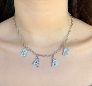 """Babe"" Rhinestone Necklace"