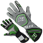 Flo Green K1 Flex Gloves | SFI 3.3/5