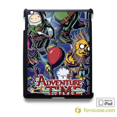 ADVENTURE TIME LEGEND OF ZELDA iPad 2 3 4 5 Air Mini Case Cover