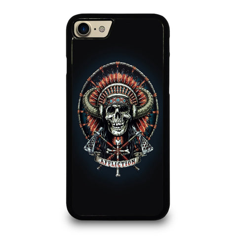 AFFLICTION-INDIAN-SKULL-case-for-iphone-ipod-samsung-galaxy-htc-one