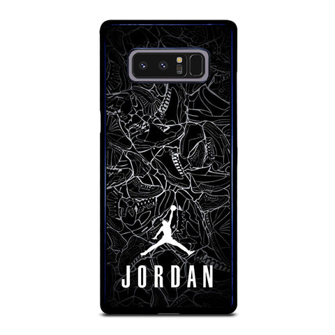 AIR JORDAN SHOES COLLAGE LOGO-samsung-galaxy-note-8-case-cover
