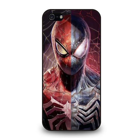 AMAZING SPIDERMAN RED AND BLACK-iphone-5-5s-se-case-cover