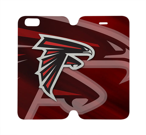 ATLANTA FALCONS Wallet Case for iPhone 4/4S 5/5S/SE 5C 6/6S Plus Samsung Galaxy S4 S5 S6 Edge Note 3 4 5