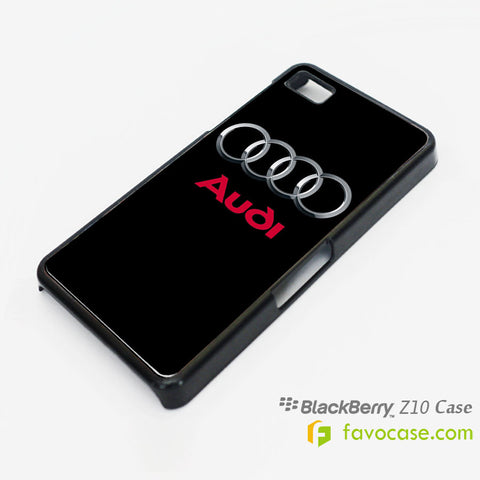 AUDI Car Logo Blackberry Z10 Q10 Case Cover