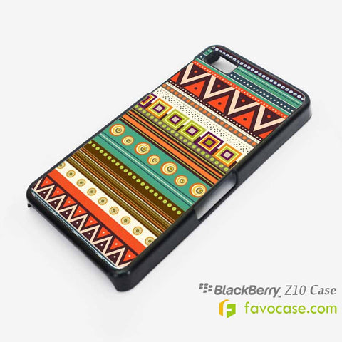 AZTEC 1 Tribal Pattern Blackberry Z10 Q10 Case Cover
