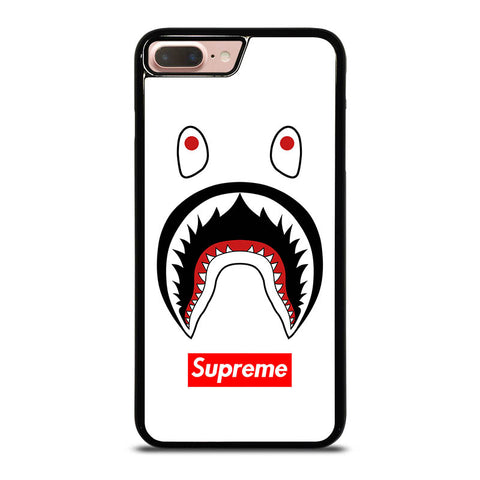BAPE-CAMO-SHARK-SUPREME-WHITE-iphone-8-plus-case-cover