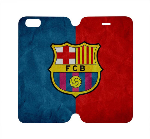 BARCELONA FC Wallet Case for iPhone 4/4S 5/5S/SE 5C 6/6S Plus Samsung Galaxy S4 S5 S6 Edge Note 3 4 5