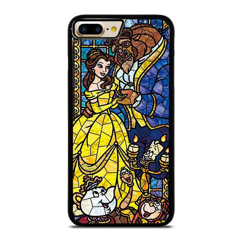 BEAUTY AND THE BEAST GLASS iPhone 4/4S 5/5S/SE 5C 6/6S 7 8 Plus X Case - Best Custom Phone Cover Design