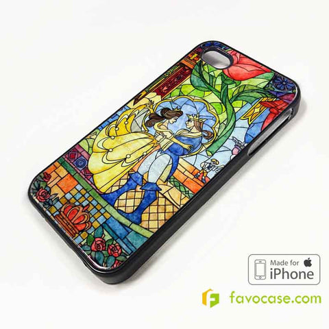 BEAUTY AND THE BEAST Disney Belle Princess iPhone 4/4S 5/5S/SE 5C 6/6S 7 8 Plus X Case Cover