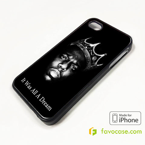 BIGGIE SMALLS NOTORIOUS BIG HIP HOP RAP iPhone 4/4S 5/5S/SE 5C 6/6S 7 8 Plus X Case Cover