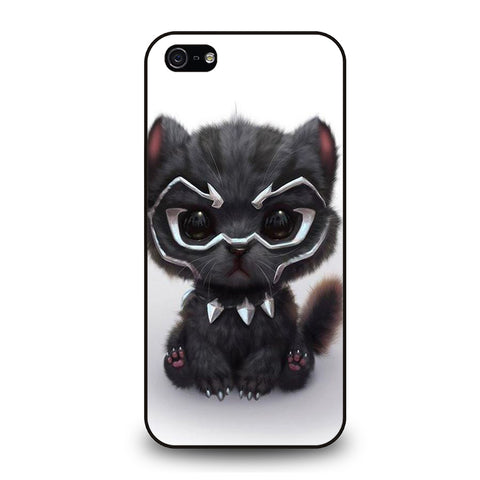 BLACK PANTHER CUTE CAT-iphone-5-5s-se-case-cover