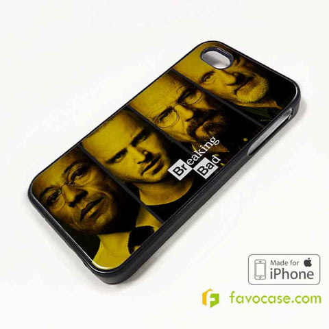 BREAKING BAD 1 Heisenberg Walter White iPhone 4/4S 5/5S/SE 5C 6/6S 7 8 Plus X Case Cover