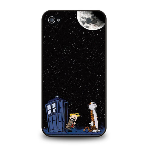 CALVIN-AND-HOBES-TARDIS-BOX-iphone-4-4s-case-cover