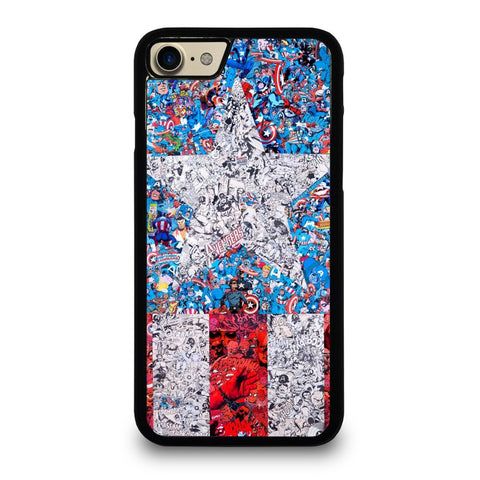 CAPTAIN-AMERICA-LOGO-COLLAGE-case-for-iphone-ipod-samsung-galaxy-htc-one