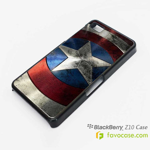 CAPTAIN AMERICA Shield Avengers Marvel Blackberry Z10 Q10 Case Cover