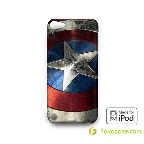 CAPTAIN AMERICA Shield Avengers Marvel  iPod Touch 4 5 6 Case