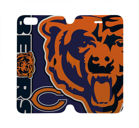 CHICAGO BEARS Wallet Case for iPhone 4/4S 5/5S/SE 5C 6/6S Plus Samsung Galaxy S4 S5 S6 Edge Note 3 4 5