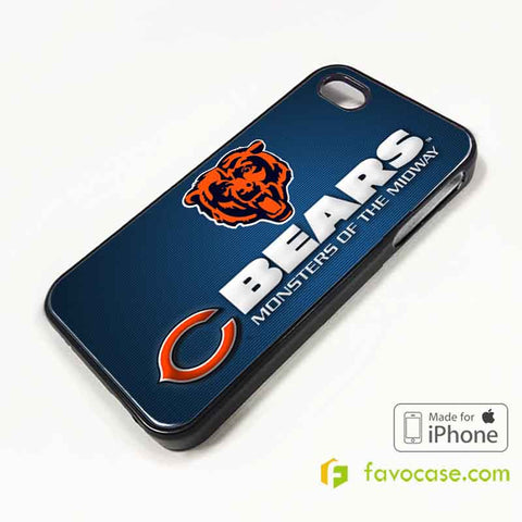 CHICAGO BEARS Football Team NFL iPhone 4/4S 5/5S/SE 5C 6/6S 7 8 Plus X Case Cover