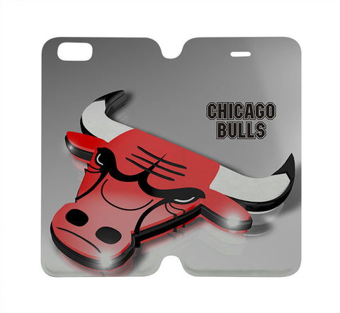 CHICAGO BULLS Wallet Case for iPhone 4/4S 5/5S/SE 5C 6/6S Plus Samsung Galaxy S4 S5 S6 Edge Note 3 4 5