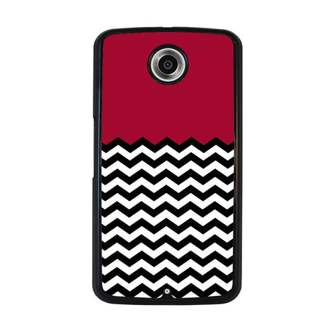 COLORBLOCK-DARK-RED-CHEVRON-Pattern-nexus-6-case-cover