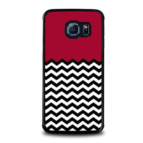 COLORBLOCK-DARK-RED-CHEVRON-Pattern-samsung-galaxy-s6-edge-case-cover