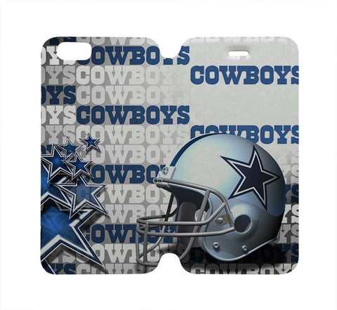 DALLAS COWBOYS Wallet Case for iPhone 4/4S 5/5S/SE 5C 6/6S Plus Samsung Galaxy S4 S5 S6 Edge Note 3 4 5