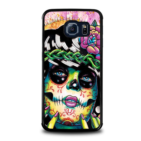 DAY-OF-THE-DEAD-SKULL-GIRL-samsung-galaxy-s6-edge-case-cover