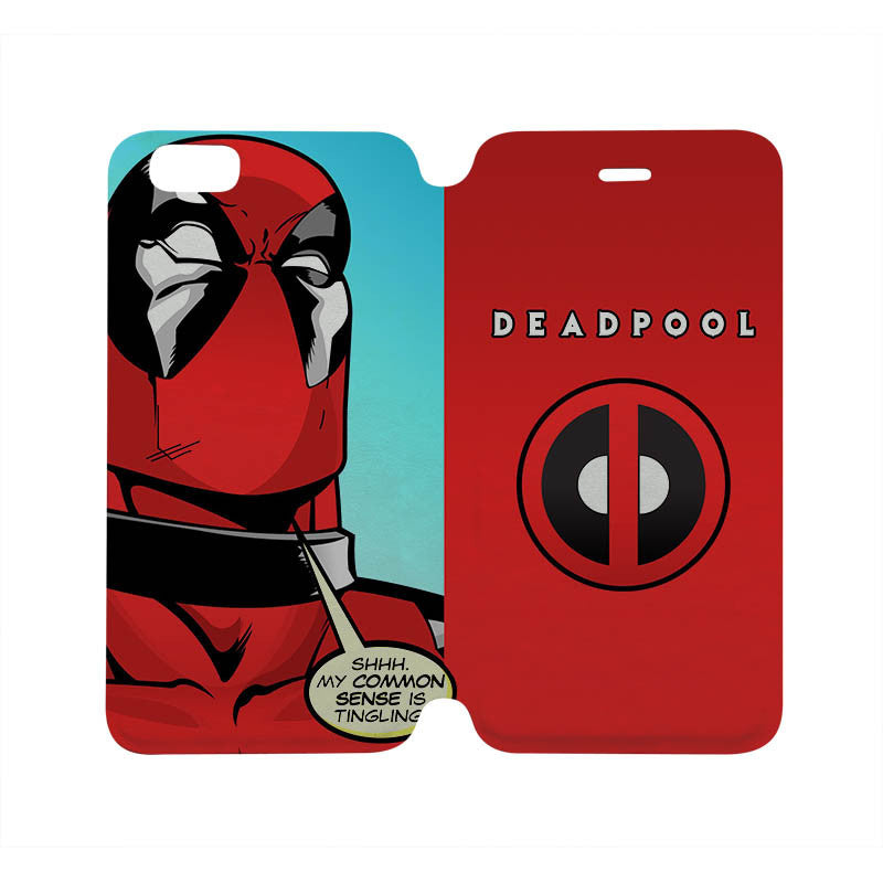 DEADPOOL Wallet Flip Case for iPhone 4/4S 5/5S 5C 6 Plus Samsung Galax ...
