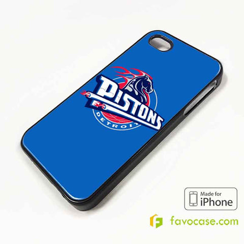 DETROIT PISTONS iPhone 4/4S 5/5S/SE 5C 6/6S 7 8 Plus X Case Cover