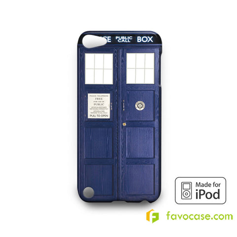 DR. DOCTOR WHO TARDIS BOX Pollice Call Box  iPod Touch 4 5 6 Case
