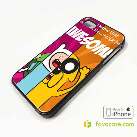 FINN AND JAKE 1 Adventure Time iPhone 4/4S 5/5S/SE 5C 6/6S 7 8 Plus X Case Cover