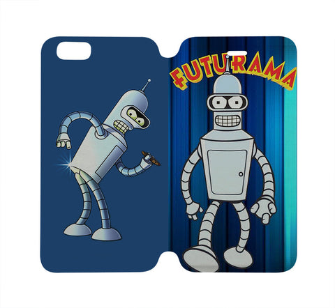 futurama-bender-wallet-flip-case-iphone-4-4s-5-5s-5c-6-6s-plus-samsung-galaxy-s4-s5-s6-edge-note-3-4