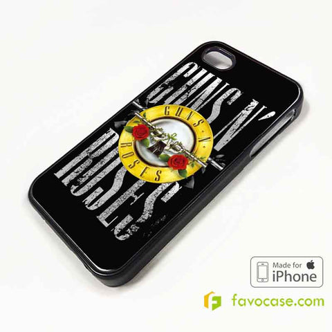 GUNS N ROSES Band GNR iPhone 4/4S 5/5S/SE 5C 6/6S 7 8 Plus X Case Cover
