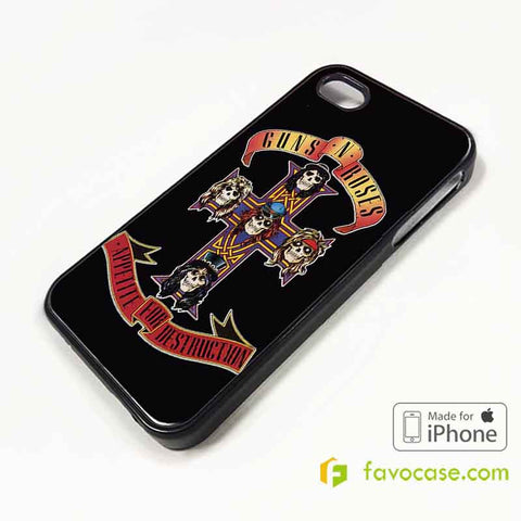 GUNS N ROSES 2 Band GNR iPhone 4/4S 5/5S 5C 6 6 Plus Case Cover