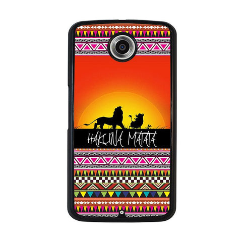 HAKUNA-MATATA-LION-KING-SUNSET-AZTEC-nexus-6-case-cover