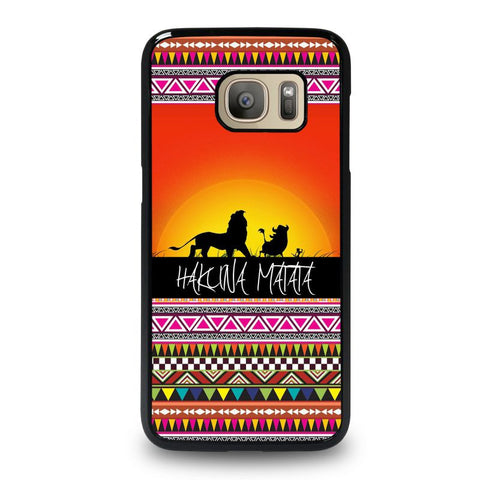 HAKUNA-MATATA-LION-KING-SUNSET-AZTEC-samsung-galaxy-S7-case-cover
