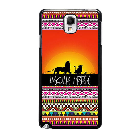 HAKUNA-MATATA-LION-KING-SUNSET-AZTEC-samsung-galaxy-note-3-case-cover