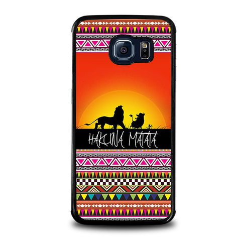 HAKUNA-MATATA-LION-KING-SUNSET-AZTEC-samsung-galaxy-s6-edge-case-cover