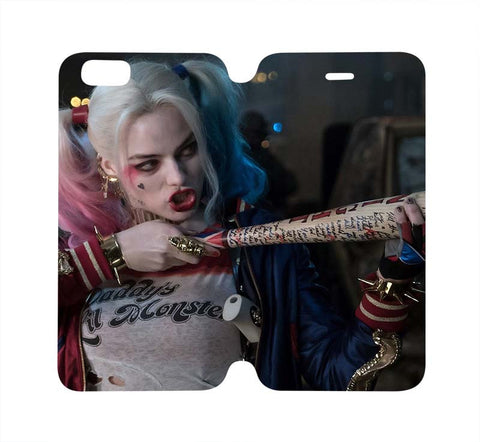 harley-quinn-margot-robbie-wallet-flip-case-iphone-4-4s-5-5s-5c-6-6s-plus-samsung-galaxy-s4-s5-s6-edge-note-3-4