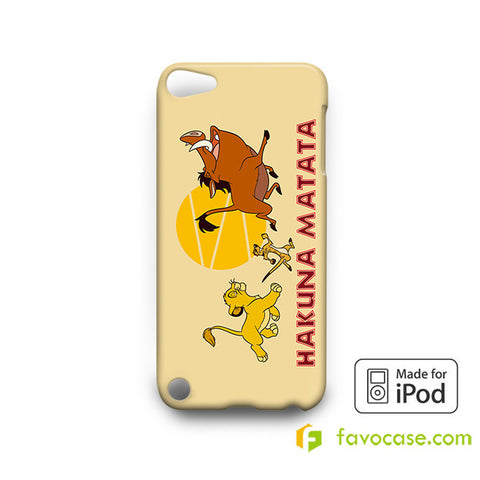 HAKUNA MATATA LION KING  iPod Touch 4 5 6 Case
