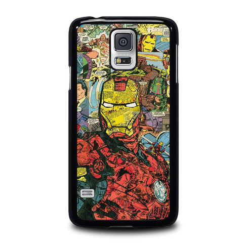 IRON-MAN-COMIC-COLLAGE-samsung-galaxy-s5-case-cover