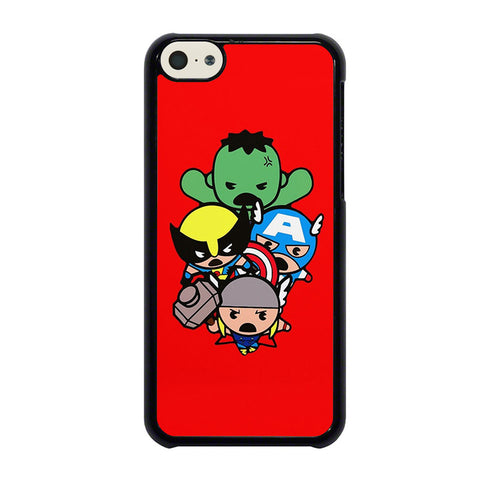 kawaii-captain-america-hulk-thor-wolverine-marvel-avengers-iphone-5c-case-cover