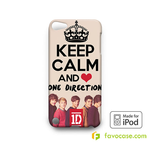 KEEP CALM AND LOVE ONE DIRECTION iPod Touch 4, 5 Case Cover