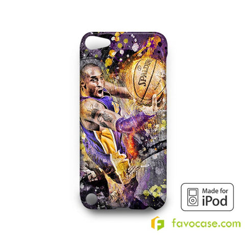 KOBE BRYANT Black Mamba LA Lakers  iPod Touch 4 5 6 Case