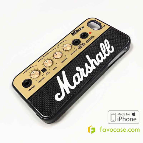 MARSHALL Guitar Amplification iPhone 4/4S 5/5S/SE 5C 6/6S 7 8 Plus X Case Cover